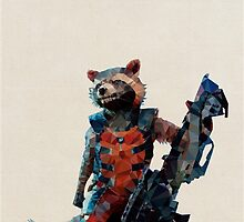 Rocket Raccoon from Guardians of the Galaxy by pop-lygons