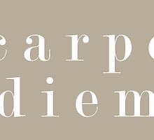 Carpe Diem (Serif White) by dontchasesheep