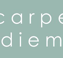 Carpe Diem (Sans Serif White) by dontchasesheep