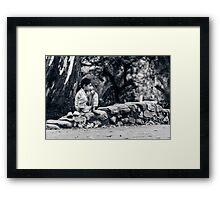 Stolen Shot of Childhood Framed Print