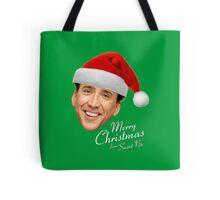 Merry Christmas from St Nic-olas Cage Tote Bag