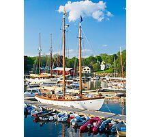 Harbor at Camden, Maine Photographic Print