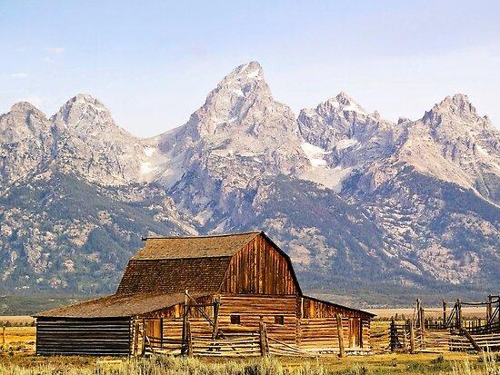 Mormon Row Barn, Grand Tetons, Wyoming, USA by Kenneth Keifer