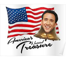 America's National Treasure - Black Text Poster