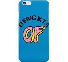 OFWGKTA Doughnut and Words iPhone Case/Skin
