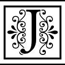 Letter J Monogram by imaginarystory