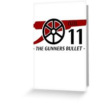 Ozil Gunners Bullet Greeting Card
