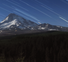 Star Trails Over Mt. Hood Sticker