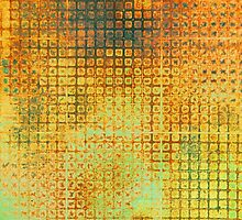 Watercolor Abstraction: Rust Grid Texture by Megan  Koth
