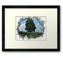 """Read The World Away"" [Transparent Fade] Framed Print"
