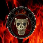 Satan's Skull .. ipad case by LoneAngel