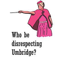 """Who be disrespecting Umbridge?"" Photographic Print"