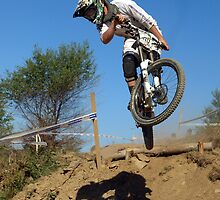 Downhill mountain biker by turniptowers
