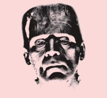 Frankenstein's Monster. Spooky Halloween Digital Engraving Image Kids Clothes