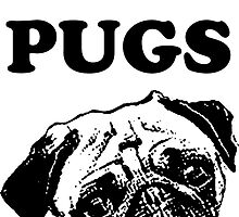 I LOVE PUGS by abbstractdesign