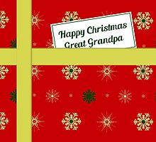 Great Grandpa red Christmas parcel card by julesdesigns