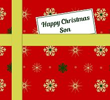 Son red Christmas parcel card by julesdesigns