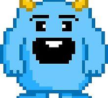 Little Blue Pixel Monster by SueMcgrew