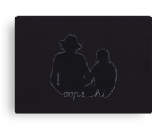 Oops Hi (Harry Styles and Louis Tomlinson) Canvas Print