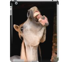 Laugh and the world laughs with you iPad Case/Skin