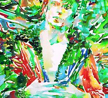DAVID BOWIE - watercolor portrait.3 by lautir