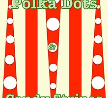 POLKA DOTS & CANDY STRIPES - A BIT OF FUN - RED by Rose Frankcombe
