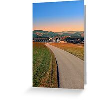 Country road into beautiful panorama | landscape photography Greeting Card