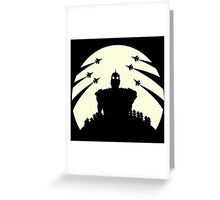 The Giant and the moon. Greeting Card