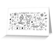 Louis Tomlinson Tattoos Greeting Card