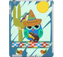 Cute Sombrero Owl with a Guitar iPad Case/Skin