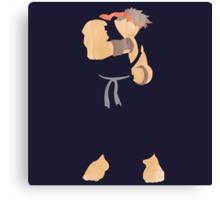 project silhouette 2.0: Dark Ryu Canvas Print