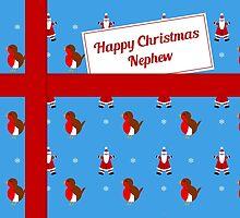Nephew blue Christmas parcel card by julesdesigns