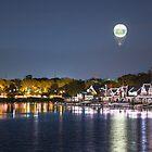 Zoo Balloon Over Boathouse Row - Philadelphia, PA by Jason Heritage