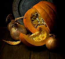 Still life with pumpkin by JBlaminsky