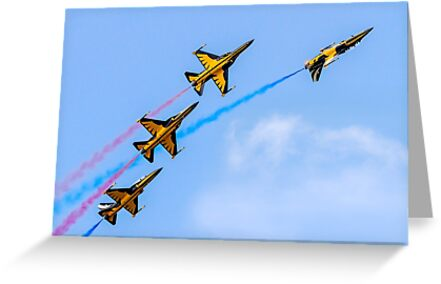 Four Korean T-50B Golden Eagles by Colin Smedley
