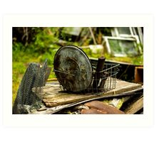 Old Metal and Wooden Stuff/Objects - Object Photography Art Print