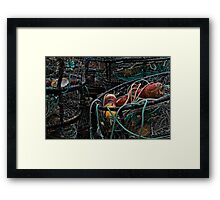 Crab Rings On The Bayfront Framed Print