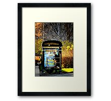 Bus station Framed Print