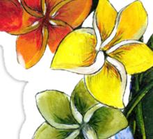 rainbow plumeria Sticker