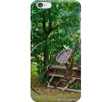 Antique rake iPhone Case/Skin