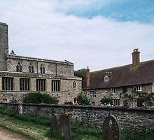 Approach to Priory church of St Mary Deerhurst England 198405140056 by Fred Mitchell