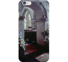 Arches and carpet Priory church of St Mary Deerhurst England 198405140060  iPhone Case/Skin