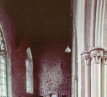 Side aisle Priory church of St Mary Deerhurst England 198405140063 by Fred Mitchell