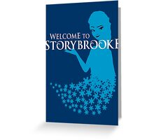 Queen of Ice and Storybrooke Greeting Card