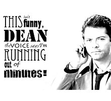 Castiel and Phone Complications  Photographic Print