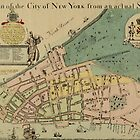 Historical Manhattan Map 1728 by AndrewFare