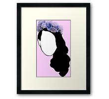 Lana Del Rey - Simplistic Framed Print