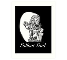 Fallout Dad (Black) Art Print