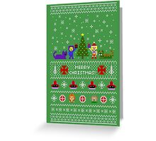 80s Christmas Sweater + Card Greeting Card