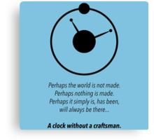 THE MANHATTAN CLOCK.  Canvas Print